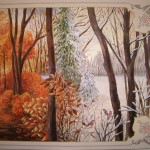 "Wall painting ""Four Seasons"""