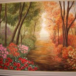 "Wall painting ""Four Seasons"""
