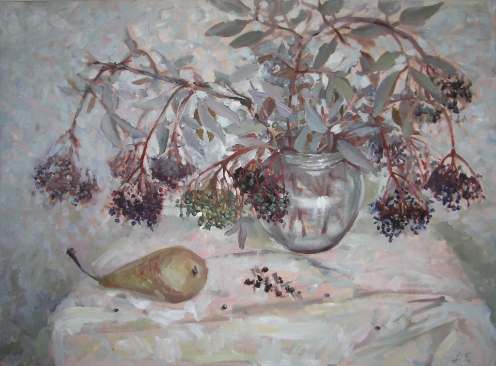 Still life with pear. 2010