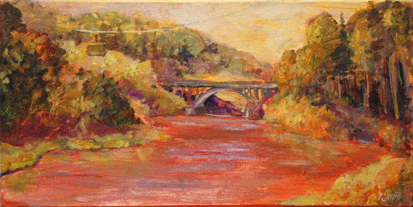 Bridge over the river Gauja